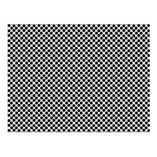 Carte Postale Motif de point noir minuscule de polka