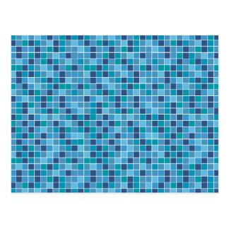 Carte Postale Motif de tuile de piscine
