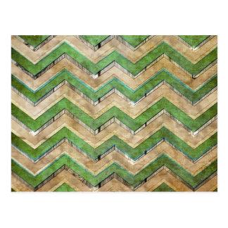Carte Postale Motif de zigzag frais impressionnant de chevron