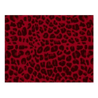 Carte Postale Motif d'empreinte de léopard de Bourgogne