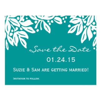 Carte Postale Motif floral embouti de mariage