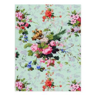 Carte Postale Motif floral vintage