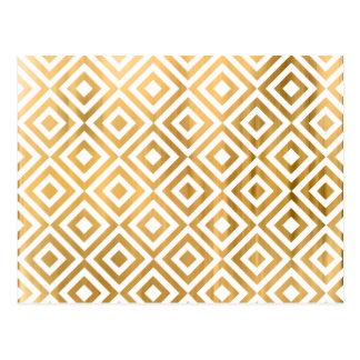 Carte Postale Motif géométrique abstrait moderne de feuille de