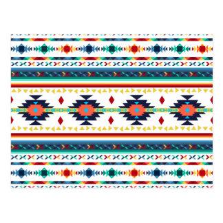 Carte Postale motif géométrique de Navajo ethnique tribal à la