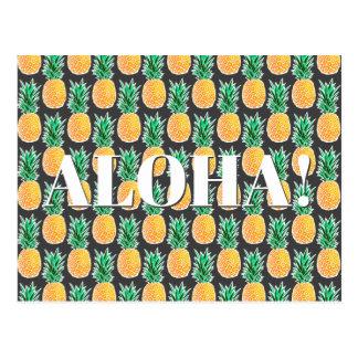 Carte Postale Motif géométrique tropical d'ananas