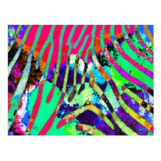 Carte Postale Motif multicolore de hippie psychédélique génial