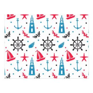 Carte Postale Motif nautique de mer