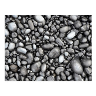 Carte Postale Motif noir de cailloux de lave