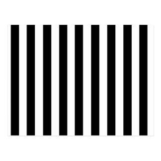 Carte Postale Motif noir et blanc de rayures de mod
