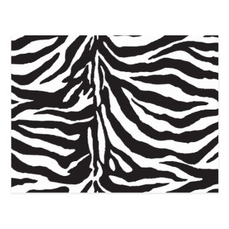 Carte Postale Motif noir et blanc simple de rayure de zèbre