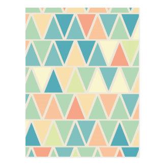 Carte Postale Motif orange turquoise de triangle