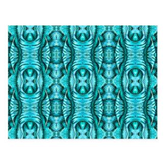 Carte Postale Motif organique d'aile d'océan de turquoise d'Aqua