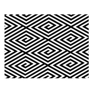 Carte Postale Motif principal abstrait noir et blanc moderne