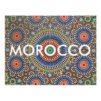 Carte Postale motif religieux de l'Islam arabe de mosaïque du