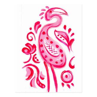 Carte Postale Motif rose génial de Flamigo Paisley