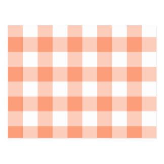 Carte Postale Motif saumoné léger de guingan