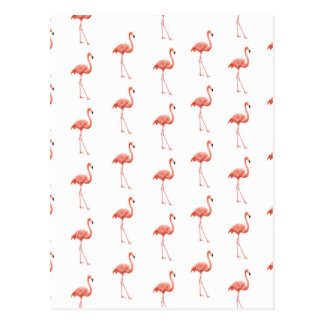 Carte Postale Motif simple de flamant rose
