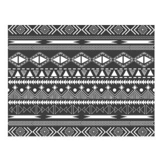 Carte Postale Motif tribal aztèque à la mode frais