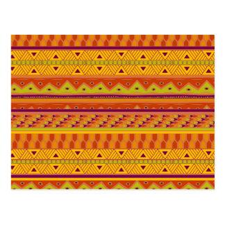 Carte Postale Motif tribal aztèque d'impression d'abrégé sur