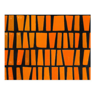Carte Postale Motif tribal d'orange et d'africain noir