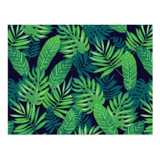 Carte Postale Motif tropical de feuille
