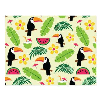 Carte Postale Motif tropical d'été de toucan