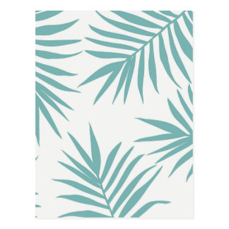 Carte Postale Motif tropical vert sensible de feuille