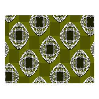 Carte Postale Motif vérifié par Nouveau olive de vert