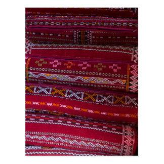 Carte Postale Motifs de coussin de textile