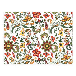 Carte Postale Motifs floraux décoratifs