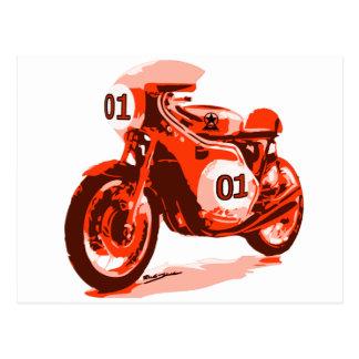 Carte Postale Moto de emballage vintage rouge
