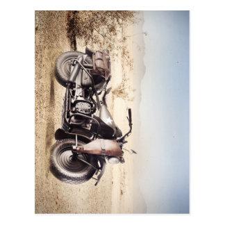 Carte Postale Moto militaire