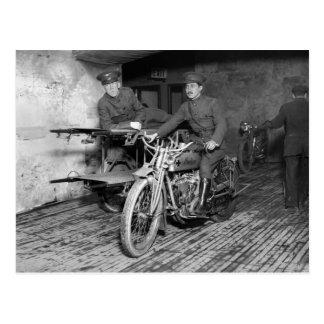 Carte Postale Moto militaire EMT, les années 10