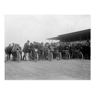 Carte Postale Moto Races, 1915