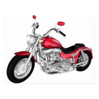 Carte Postale moto rouge