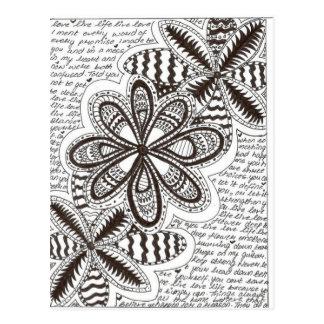 Carte Postale Mots de fleur