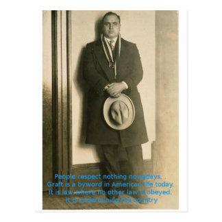 Carte Postale Mots de la sagesse d'Al Capone ?