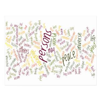 Carte Postale Mots merci positifs de Desidera (R)
