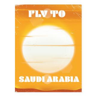 Carte Postale Mouche à l'affiche vintage de voyage de l'Arabie