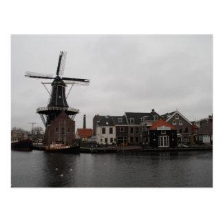 "Carte Postale Moulin à vent ""De Adriaan"", Haarlem"