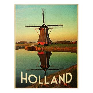 Carte Postale Moulin à vent de la Hollande