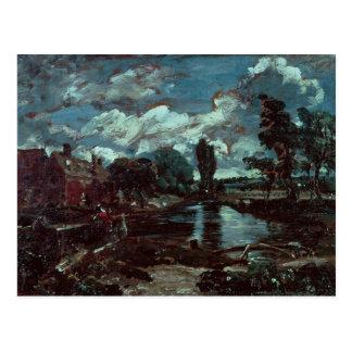 Carte Postale Moulin de Flatford d'une serrure sur le Stour,