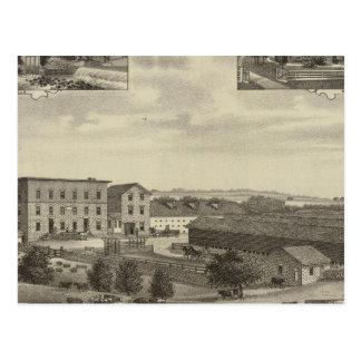 Carte Postale Moulins et résidences au Kansas