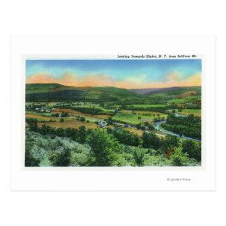 Carte Postale Mountain View de Sullivan de la ville