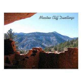 Carte Postale Mountain View des logements de falaise