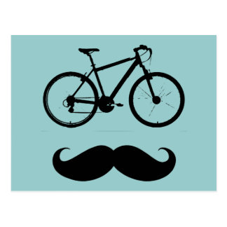 Carte Postale moustache noire de vélo