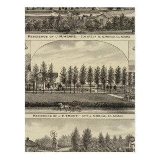 Carte Postale Moyens, truite et Sabins au Kansas