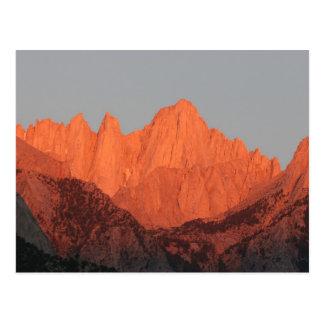 Carte Postale Mt. Whitney à l'aube…