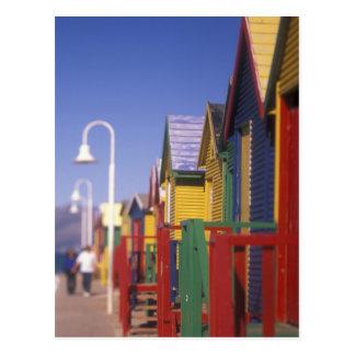 Carte Postale Muizenburg baignant des boîtes, près de Capetown,