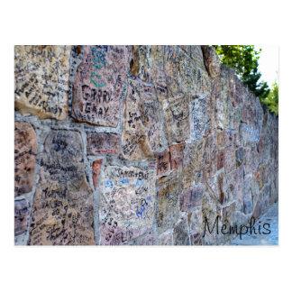 Carte Postale Mur des autographes